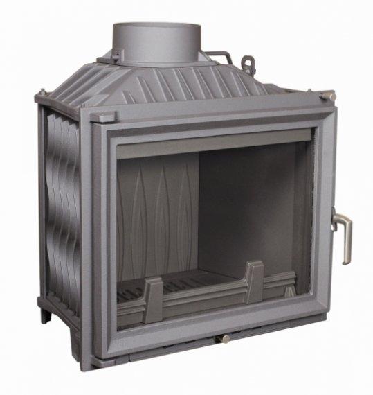 Antek öntvény tűztér 10 KW - 5 év garancia - kis 140 mm-es kéménybe is légfűtéses kandalló tűztér