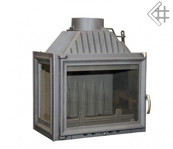 Maja bal oldalüveges 12KW - kis kéményhez 150 mm-es füstcsonkkal légfűtéses kandalló tűztér