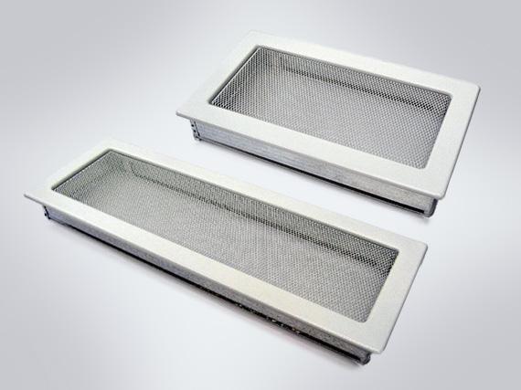 Fehér kandalló szellőzőrács (több méretben)