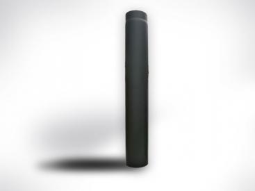 Fekete kályhacső (200) 100cm-es