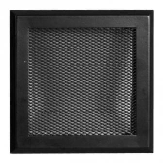 Matt fekete kandalló szellőzőrács 16x16 cm