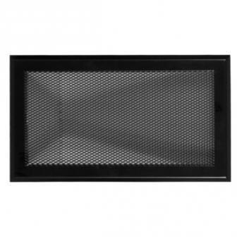 Matt fekete  kandalló szellőzőrács 16x32 cm