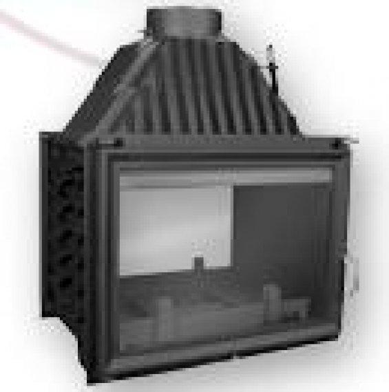 Zuzian duplaajtós 16 KW légfűtéses kandalló tűztér