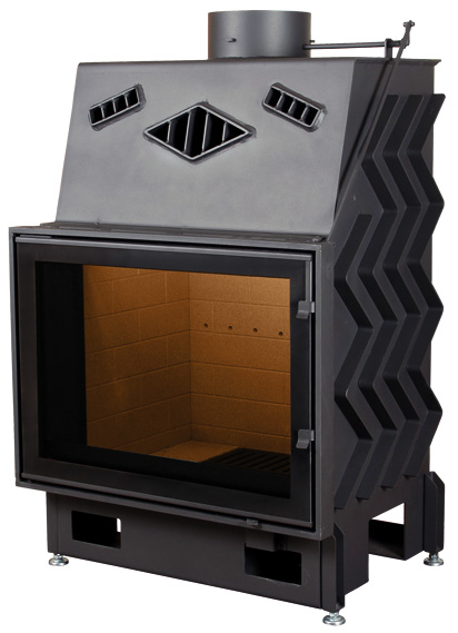 Pantech 68 EVO légfűtéses kandalló tűztér