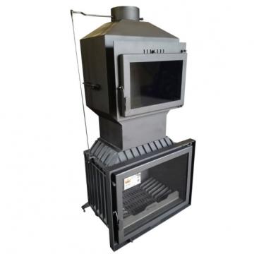 Modern kandalló tűztér sütővel