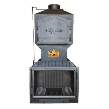 Rusztikus tűztér betét sütővel