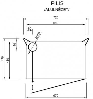 2AB-S sarok hátsó tüzelőajtós kandallóbetét