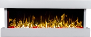 Monza villany tűztér (fekete,fehér)